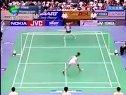2005年欧亚羽毛球对抗赛  第二女单比赛  皮红艳(法国)VS徐润煕(韩国)