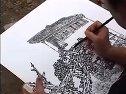 山水画写生—桂林民居