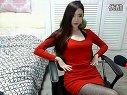 超漂亮韩国美女主播又一部紧身红衫丝袜诱惑①