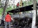 23号中午蒙城楚村发生面包车客车相撞事故 两车起火造成2死1伤