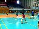 北京业余羽毛球比赛片段