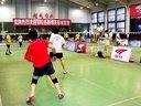 2012索牌羽毛球比赛康中明、代小军 VS 郭晓东、朱智斌. 21:14  18:21  4:11