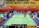 李宗伟VS贾亚拉姆 2012香港羽毛球公开赛 爱羽客羽毛球网