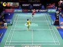 2012丹麦羽毛球超级系列赛男单决赛李宗伟vs杜鹏宇1