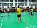 上海市羽毛球锦标赛,同济对体院第二男单1