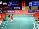 高桥沙也加VS因达农 2013苏迪曼杯四分之一决赛 羽毛球知识教学网