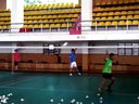 山、俊羽毛球训练视频