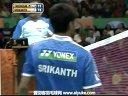 爱羽客羽毛球网 史里干VS坦农萨克 2013印度羽毛球联赛 男单决赛