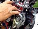 印第安酋长摩托车发动机展示