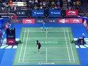 韩利VS因达农 2014新加坡超级赛四分之一决赛 羽毛球知识教学网提供
