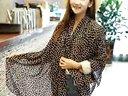 婚纱披肩春秋:韩国 春秋冬季超长款两用围巾披肩雪纺女士豹纹骷髅蝴蝶结丝巾