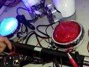 摩托车巡逻前警灯前喇叭麦克风手柄开关后杆警灯永警警示灯厂的视频