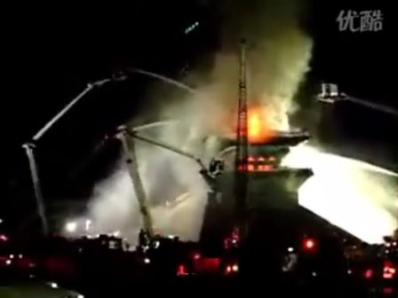 香港的视频韩国第一国宝崇礼门被焚毁现场