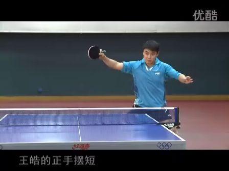 皓令天下王皓乒乓球教学3直拍横拉