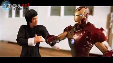牛人自制《李小龙大战钢铁侠》定格动画,帅爆了!