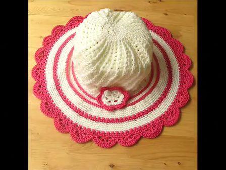 手工钩针编织时尚女士草帽