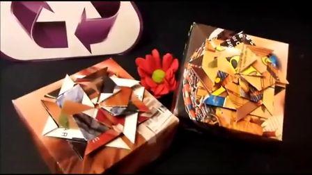 『仙鹤专辑』折纸纸盒-纸盒:《折教程》-v仙鹤播张钱泉视频图片