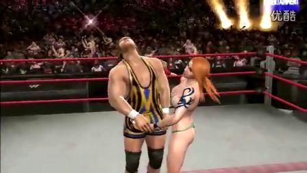 女子摔跤之要害攻击美女