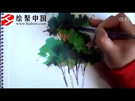 郑州手绘培训绘聚中国徐志伟景观单体马克笔表现
