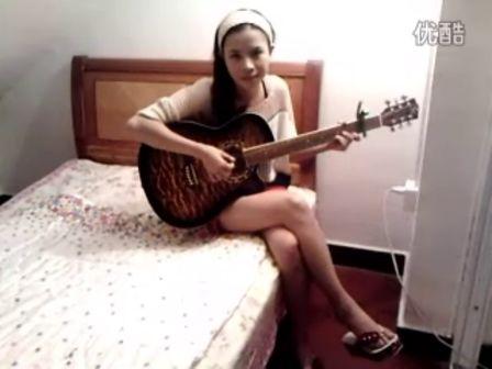 吉他弹唱 女生 滴答 C