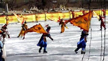 2月15日北京圆明园上演皇家冰嬉 再现《甄嬛传》嫔妃复宠