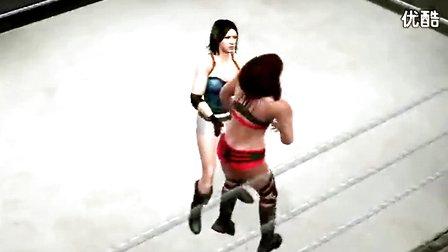 女子摔跤之要害攻击