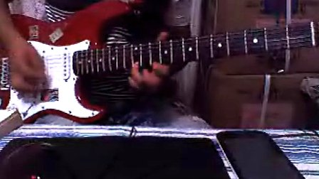 13岁摇滚少年电吉他弹奏海阔天空solo