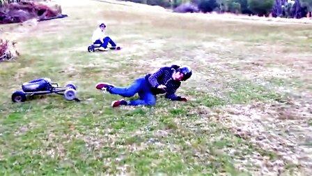 【发现最热视频】玩嗨了!草地上真人版的跑跑卡丁车