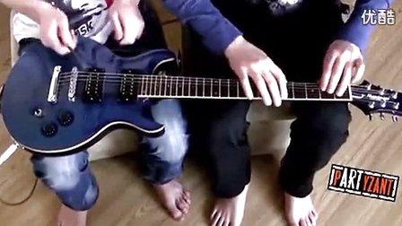电吉他=扬琴?这种玩法真是醉了。。。