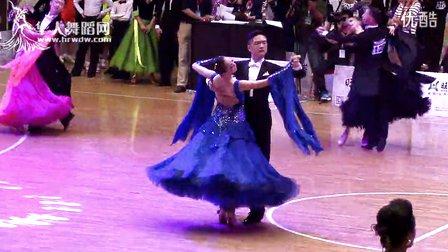 2014年第12届全国青少年体育舞蹈锦标赛青年六项组半决赛华尔兹王帅虎 闫心茹