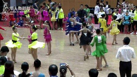 2014年CBDF中国杯国际标准舞巡回赛(泉州站)业余14岁以下女双组缅甸万丰国际老百胜第一轮第一组恰恰