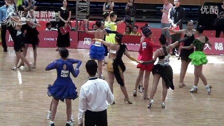 2014年CBDF中国杯国际标准舞巡回赛(泉州站)业余14岁以下女双组半决赛伦巴