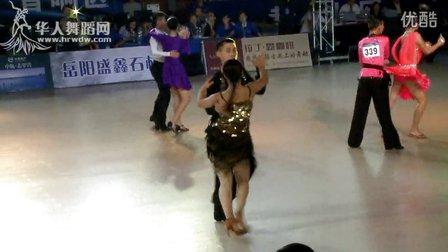 2014年中国体育舞蹈公开赛岳阳站业余少年II组L决赛牛仔刘汉文 齐若含