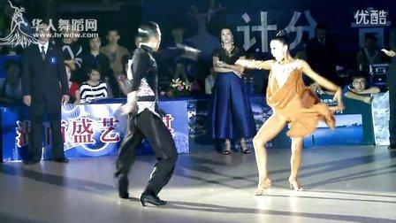 2014年中国体育舞蹈公开赛岳阳站职业组L决赛SOLO牛仔王军 贾博麟