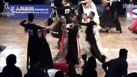 2014年回向国际舞上海公开赛国际21岁组摩登舞第二轮第三组探戈卞浩东 路鑫悦