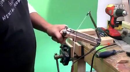 弹簧钢弩制作 十字弓制作 build an wooden pistol crossbow