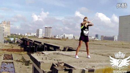 国外美女双节棍Darya Danausova nunchaku & kama