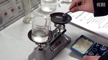 用天平和量筒测量盐水的密度