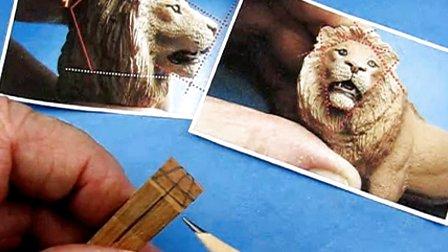 038 做狮子头的雕刻1