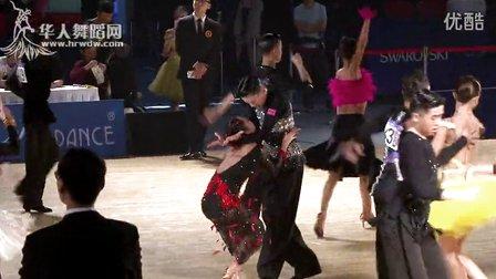 2015年中国体育舞蹈公开赛(武汉站)少年II组A级L第一轮伦巴【VIP】孙煜龙 何欣洋