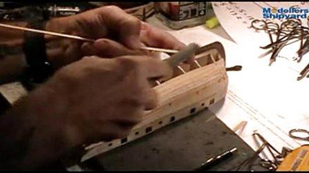 纳尔逊夫人号的制作 5.船壳板铺设