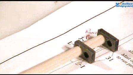 纳尔逊夫人号的制作 9.桅杆帆桁的制作