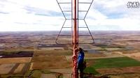 给1500英尺高的电视塔换灯泡。。。