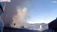 国外一家烟花厂爆炸全过程,好怕怕!