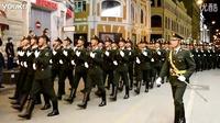 中国解放军在俄罗斯莫斯科街头胜利日彩排