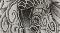 原創設計鯉魚紋身手稿