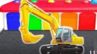 大腳車越野賽 玩具視頻慣性汽車 挖掘機 挖土機 攪拌車 鏟車 汽車總動員