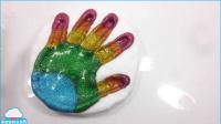 手工DIY閃光顏色泥指手指泡沫粘土顏色泥土兒童玩具做法自制玩具【 俊和他的玩具們