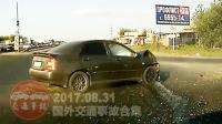 國外車禍合集20170831: 瘋狂駕駛與汽車碰撞的交通事故
