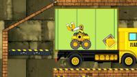 《裝載卡車》03 極富耐心的小車 叉車 起重機 挖掘機 工程車 裝載機 大吊車 益智游戲